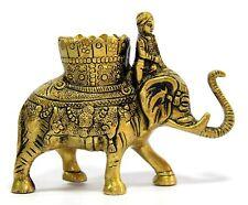 Éléphant Safari Laiton Stylo Support Pour Bureau, Bureau, Maison Organiseur