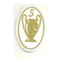 [Patch] CHAMPIONS LEAGUE 5 versione oro cm 5 x 7,5 toppa REPLICA ricamo -259