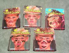 Halloween Assortment  18 Maskerade temporary tattoo mask 1994 Best & Easy  NEW