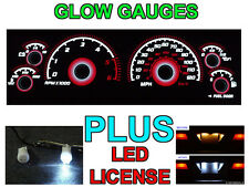 Combo Red Glow Gauge Led License Bulb For 97 00 Dodge Dakota Durango