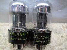 SYLVANIA 6SN7 GTB WELL-BALANCED TRIODES  PLATINUM MATCHED PAIR in Gm & Ip