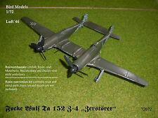 """Focke Wulf TA 152 z-4 """"distruttore"""" 1/72 Bird models rimodellamento tasso/CONVERSION"""