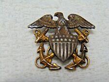 Sterling Silver USN U S Navy Pin