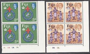 FIJI 1964  Boy Scouts set in plate blocks of 4 MNH.........................87665