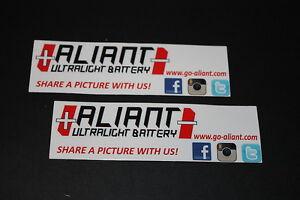 +035 Aliant Ultralight Battery Batterie Aufkleber Sticker Autocollant Pickerl FB