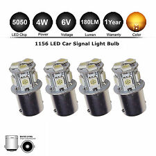 4x 6V 1156 ba15s SMD LED Amber Yellow Car Bike Motor Rear Turn Signal Light Bulb