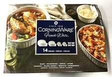 CorningWare 14 Piece Bakeware and Serving Dish Set in French White with Lids