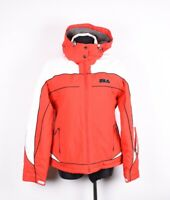 Fila mit Kapuze Damen Ski Jacke Mantel Größe I-46/48, UK-14