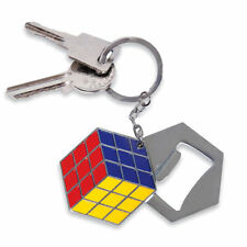 Square Metal Collectable Keyrings with Bottle Openers