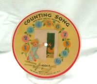 """Record Guild Of America 6 1/2"""" Picture Disc Counting Alphabet Song 4004 P 78 RPM"""