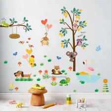 Owl Animal Wall Sticker Jungle Zoo Tree Nursery Baby Kids Room Decal Art Mural