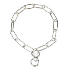 Fur Saver Dog Chain Training Collar Choke Long Link Stainless Steel 18 22 24 28""