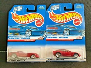 Hot Wheels 2000 First Editions Thomassima 3 + Dodge Charger R/T - Unopened