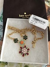 """Kate Spade necklace 20"""" New York 14k Gold Plated Multi Color NEW$128"""