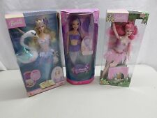 Barbie Collector Lot of 3 Swan Lake, Fairytopia, Color Change Mermaid Barbies
