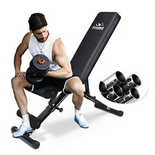 FLYBIRD Adjustable Weight Bench Incline Decline Foldable Workout Gym Exercise