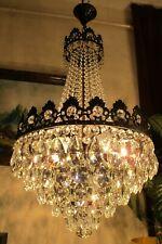 Antique Vnt.RARE Austria REAL Swarovski Crystal Chandelier Light  Lamp 1940's