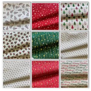 Christmas Printed fabrics  & Glitter Cottons,100% Cotton, Sewing Craft, xmas