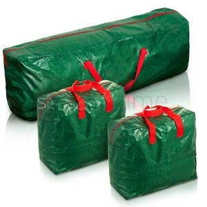 3 X Large Christmas Storage Zip Bags Tree, Decorations, Lights With Handles Xmas
