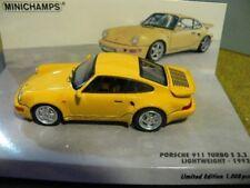 1/43 Minichamps Porsche 911 Turbo S 3.3 Lightweight gelb 436 069170