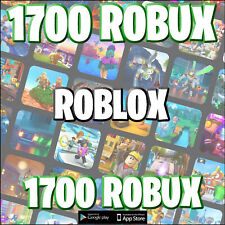 Roblox 1700 Robux @ account accreditation