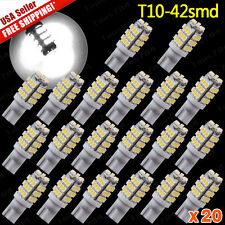 20 Pure White T10/921/194 RV Trailer 42-SMD 12V Backup Reverse LED Lights Bulbs