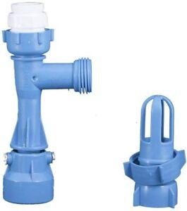 Blue Waterbed Mattress Faucet Adapter Fill and Drain Pump Kit