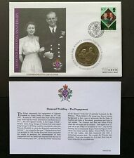 Cook Islands 2007, Queen's Diamond Wedding Anniv. One Dollar Unc. Coin Cover