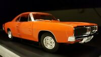 Licensed GM Dodge Charger R/T 1/18 1:18 scale diecast model muscle car orange 69
