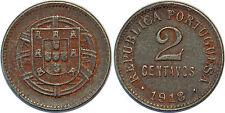 PORTUGAL 2 CENTAVOS 1918 FER KM#567 XF++!!!