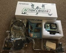 Brand New Andoer 4k Ultra Hd Sports Action Camera With Attachments Helmet Chest