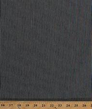 Railroad Engineer Denim Stripe Navy White Fabric By the Yard D163.11