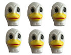 Lot of 6 Duck Celluloid Plastic Doll Masks Faces Craft Animal Doll Making VTG