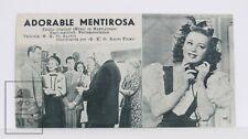 1944 Music in Manhattan Movie Adv. Card / Leaflet - Anne Shirley, Dennis Day