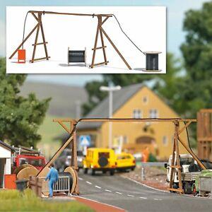 Busch 1375 Gauge H0 Cable Bridge With Building Site Distribution Board # Nip #