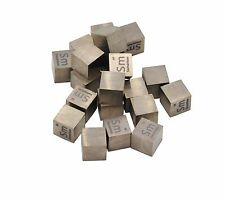 Samarium Metal 10mm Density Cube 99.99% Pure for Element Collection