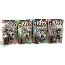 Kiss McFarlane Ultra Action 4 Figures Set 1997 Letter Base w/ Insert Variant New