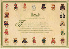 Limited Ed. Set of 20 Dated Harrods 15cm Bears 1986-2005 Rare Collectable NO BOX