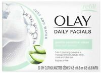 OLAY Daily Gentle Clean 4-in-1 Water Activated Cloths, 33 Ea (Pack of 2)