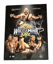 WWF WWE WRESTLEMANIA XXIV 2008 DVD TAPE HAND SIGNED BY BIG DADDY V WITH COA