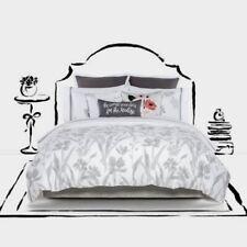 Kate Spade New York Brushstroke Garden Full/Queen 3pc Comforter Set White Gray