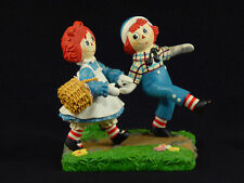 "Danbury Mint Raggedy Ann & Andy ""Picnic Fun"" Figurine"