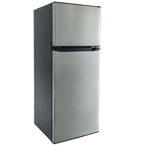 RV Refrigerator Stainless Steel 10.7 Cubic Feet 12V 2 Door Camper Fridge