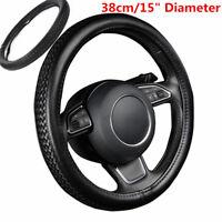 1x Weaving Braiding Look Leather Car Steering Wheel Cover Diameter 38cm 15Inch