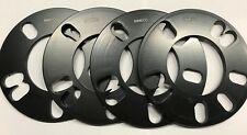 4 x 5 mm Black Universal Alloy Wheel Spacer Shims for Ford Mustang 05 > 14 All