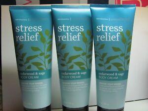 Bath and Body Works  3 Aromatherapy ~ STRESS ~ Cedarwood & Sage Body Cream