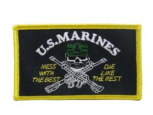 U.S. Military Marines USMC Mess Best Die Like The Rest Flag Iron On Patch