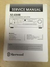 Sherwood Service Manual for the AI-1210R Amplifier Amp