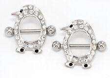 """14g 5/8"""" Penguin Nipple Shield Ring - Price Per 1"""