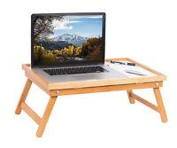 BREAKFAST IN BED/ LAPTOP COMPUTER TRAY - Folding Legs - Solid Wood -